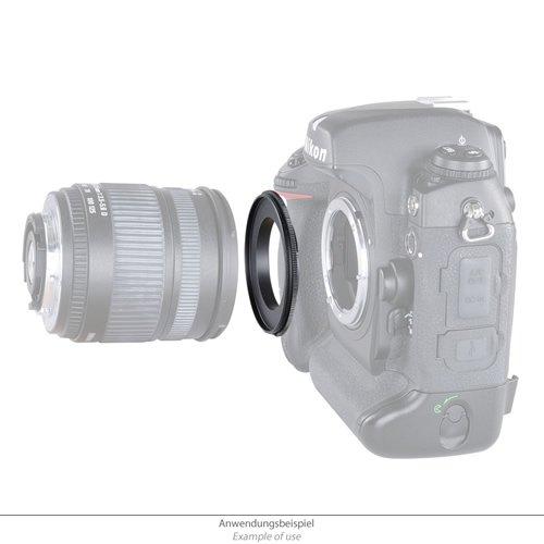 KAMERA RETRO ADAPTER UMKEHRRING für 62mm OBJEKTIV an NIKON D3200 D5000 D5100