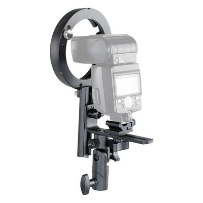 MobiFlash Systemblitzhalter Set POLARIS + Beauty Dish 42 + Wabe