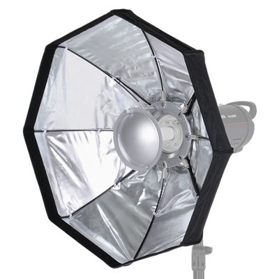 proxistar Mobiler Faltbarer Beauty Dish silber 60cm inklusive Wabe