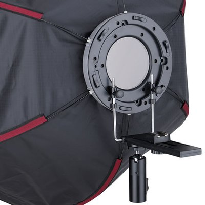 Mobile Easy Setup Hexagon Softbox Ø 60 cm mit Systemblitz-Halter