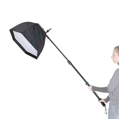 Mobile Easy Setup Hexagon Softbox Ø 60 cm mit Systemblitz-Halter und Teleskop Handgriff