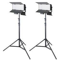 proxistar Studioleuchten Doppel Set LED 160 Bi-Color, 6000lm