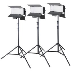 proxistar Studioleuchten Dreier Set LED 160 Bi-Color, 6000lm