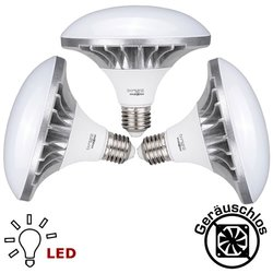 3x Tageslicht LED Leuchtmittel 50W E27 5400K Fotolampe