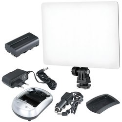 Blendfreie LED Bi-Color Videoleuchte Softlight 100D Set...